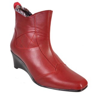 Jolly Jolla Coushioned Red Boots SKM0277RW