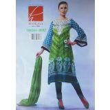 HASEJA'S Tanika Unstitched Designer Suit 0092GB Green & Blue