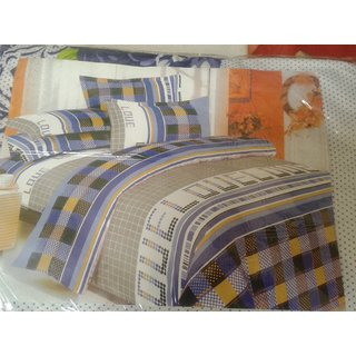 designer double bedsheet with 2 pillow covers(3pcs)