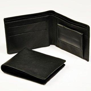Imported Men's Italian Black Leather Wallet
