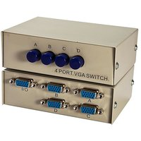 4 FOUR PORT VGA MANUAL SWITCH SWITCHER