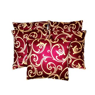 liana cushion red & beige ( 5 pcs set)