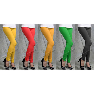 LEGGINGS 5 PIECE OF COMBO  PACK WITH GOOD QUALITY AND CHEAPEST LOWEST PRICE