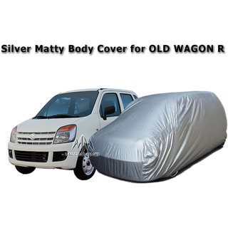 Car Body Cover of / for Old Maruti WagonR / Old Wagon-R Silver Matty Body Cover