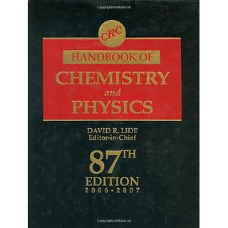Crc Handbook Of Chemistry And Physics, 87Th Edition (Crc Handbook Of Chemistry & Physics)
