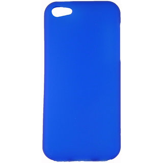 FCS Rubberised Silicon Back Case for Apple IPhone 5C in Matte Finish-Blue