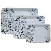 Czar Dine Smart Black design Set of  3 Ellora Heavy Nice Serving Trays