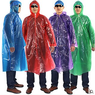 Raincoat Poncho-one size fit all for adults-color assorted