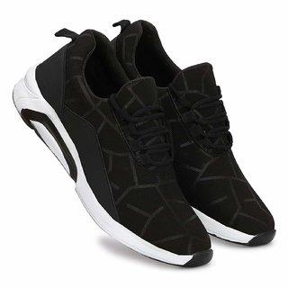 Mr Cobbler Men Black Light Weighted Sport Shoes