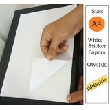 Set of 100 Self Adhesive A4 size Sticker Papers for Laser and Inkjet Printer