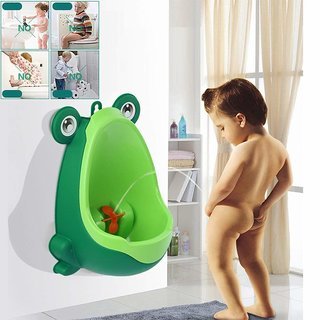 REGAL Frog Potty Removable Toilet Training Urinal Early Learning Pee Trainer Bathroom for Kids
