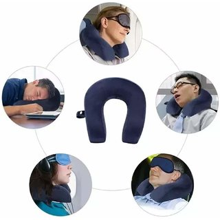 Eastern Club Soft Neck Pillow for Travel Micro Fiber Sleeping Unisex U-Shaped Pillow for Multipurpose