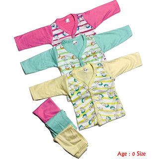 New Born Baby Cotton Clothes Baby Clothes Top Bottom Set...