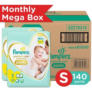 Pampers Premium Care Pants Diapers, Small, (140 Count)