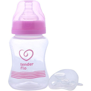 Wide Mouth FEEDING BOTTLE+Includes lsr soother nipple(250 ml) (Color May Vary)Premium Quality