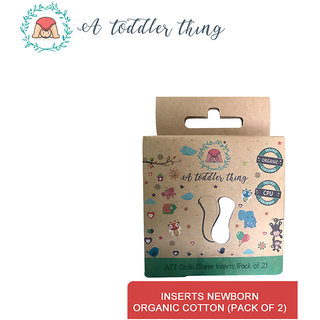 A Toddler Thing Microfiber Organic GOTS cotton Newborn diaper inserts - Pack of 2