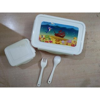OSM ENTERPRISES Unbreakable Plastic Small Airtight Leakproof Lunch Box/Tiffin pink Suitable for Nursery to 1st class