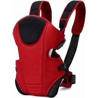 G&K 4-in-1 Cotton Baby Mini Carriers with Head Support and Buckle Straps Backpack.(Bold Red) Baby Carry Cot