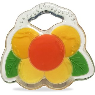 LuvLap Happy yellow design Silicon Teether Teether (Multicolor)