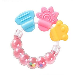 CHILD CHIC Infrant Baby Rattle Teether Toy,BPA-Free Infants Teether Rattle Toy, Colorful Shaking Bell Musical.(PINK)