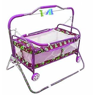 ''Oh Baby'' Baby multicolor best on super quality cradles and bassinet (JHULLA and PALNA) ,crib cum stroller, with mos