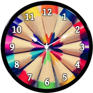 Babawill Colored Pencils Ji Abs Plastic Wall Clock Diwali Gifts...