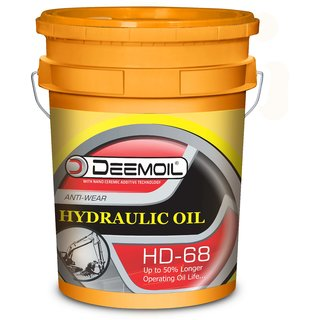 DEEMOIL HYDRAULIC OIL (HD) 68 AntiWear White for All Types of Vehicles Machines ( 26 Litre)