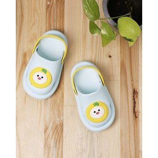 screenshoppingstore Baby Face Clogs for Kids - LightGreen size 2 years and 6 years
