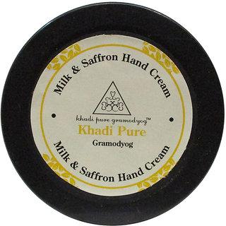Khadi Natural Milk and Saffron Hand Cream with Sheabutter