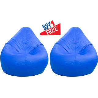 Home Berry Classic Bean Bag - Large size Without Beans -Blue (Buy1 Get1)- Cover only