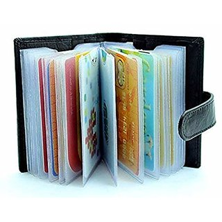Excellent Pure Credit, ATM Leatherite Card Holder Black or Brown (Synthetic leather/Rexine)