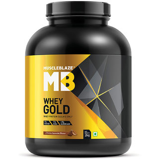 MuscleBlaze Whey Gold, 4.4 lb Mocha Cappucino