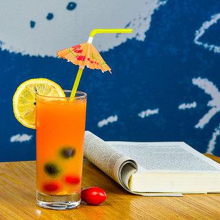 EREIN Plastic Umbrella Designed Drinking Straws for Soft Drink, Juice,...