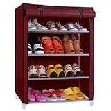 Style Maniac Presents Multicolor shoe rack 4 Shelves Metal Shoe Rack  Multicolor, 4 Shelves
