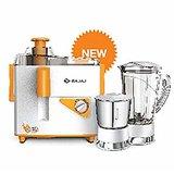 Bajaj Neo JX4 450 Watt Juicer Mixer Grinder JMG  Orange, 2 Jars
