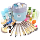 Style Homez Alita, Travel Cosmetic Makeup Carrying Pouch Bag cum Organizer for Women, Multipurpose Kit, Teal Color
