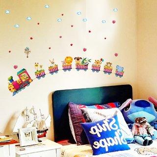 SKY HOME DECOR Kids Nursery Cartoon Animal Band Wall Sticker for Home Dcor