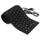Oxza Lightweight Ultra Slim Portable Wired USB Laptop Keyboard  Black
