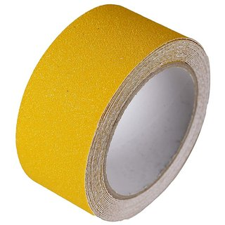 DIY Crafts Anti Slip/Skid Tape Size Good Grip Friction Safety Tapes Slippery Floors Staircase Ramps Indoor Outdoor, Traction Tape Hazard Warning Safety Walls Floors Pipes Equipment (5x100mm) (Yellow) 1 Pack