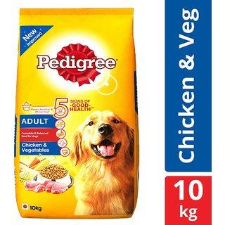 Pedigree Dry Dog Food, Chicken Vegetables for Adult Dogs 10 kg