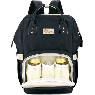 Style Homez AIMAMA Baby Diaper Changing Mothe Bag, 25 Litre Storage Space and Easy Travel with Baby, Black