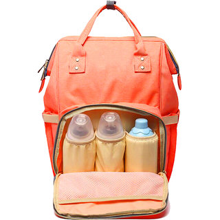 Style Homez AIMAMA Baby Diaper Changing Mothe Bag, 25 Litre Storage Space and Easy Travel with Baby, Citrus Orange