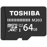 Toshiba 64  GB M203 MicroSD Card Class 10 100 MB/S Memory Card