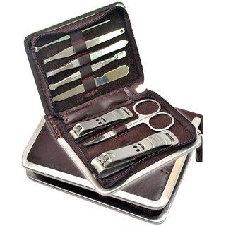8 in 1 Nail Art Clipper Pedicure Manicure Tweezer Cutter Earpick Tool Set Kit -03