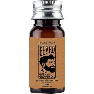 hitler germany Beard Growth Oil For Men - 100 Natural Essential Oils Hair Oil (35 ml)