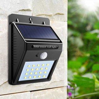 20 LED Solar Powered PIR Motion Sensor Light Outdoor Garden Security Wall Light