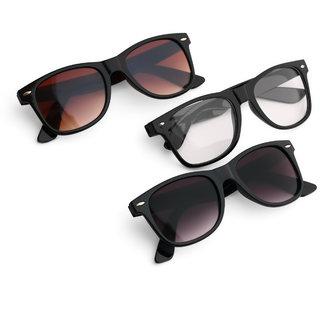 Royal Son Wayfarer Stylish Unisex Sunglasses Combo (Latest Goggles)