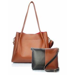 Mammon Women's/girl's latest stylish Handbags and sling bag combo(HS-bib-tb)