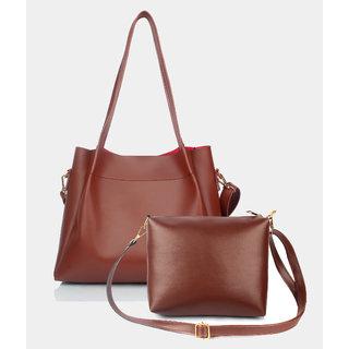 Mammon Women's/girl's latest stylish Handbags and sling bag combo(HS-Combo-BIB-Tan)