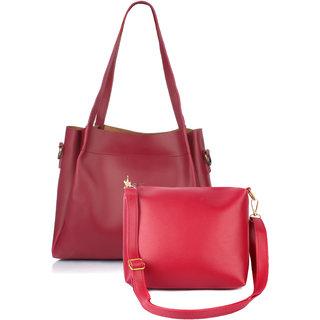 Mammon Women's/girl's latest stylish Handbags and sling bag combo(HS-Combo-BIB-Mrn)